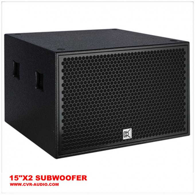 "Night-club altoparlante del Subwoofer da 1000 watt audio pro 15"" X2 4"" BOBINA di VOCE"